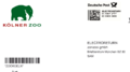 Electroreturn Versandetikett Deutsche Post an zonzoo - Kölner Zoo.png