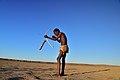 Elia Fester, Kalahari Khomani San Bushman, Boesmansrus camp, Northern Cape, South Africa (20513486476).jpg