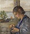 Elin Wallin 1931, oljemålning utförd av Bianca Wallin.jpg