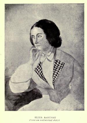 Elizabeth Ann Ashurst Bardonneau - Eliza Ashurst, loose sketch