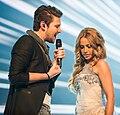 Ell & Nikki, Eurovision Song Contest 2012, semi-final allocation draw.jpg
