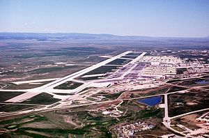 Ellsworth Air Force Base - Aerial view of Ellsworth AFB, c.1990.