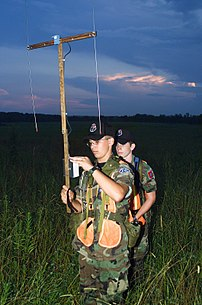 US Civil Air Patrol members practice searching...