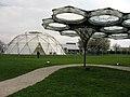 Elytra Filament Pavilion auf dem Vitra Campus in Weil am Rhein, im Hintergrund der geodesic Dome.jpg