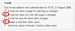 Ändra email inställningar