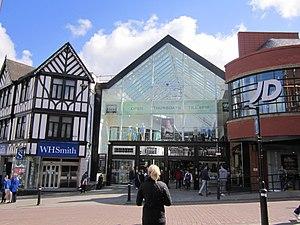 Redefine International - Entrance to Grand Arcade shopping centre, Wigan