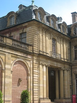 Palais Rohan, Strasbourg - Entrance to the museums (seen in 2008)