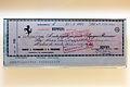 Enzo Ferrari signed cheque 1970-01-21 Museo Ferrari.jpg