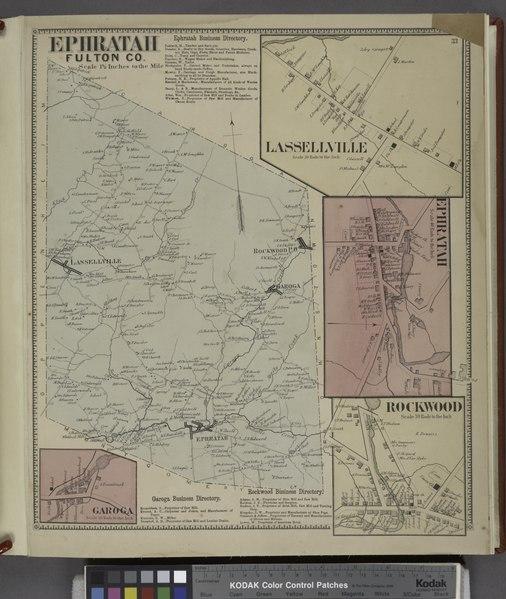 File:Ephratah Fulton Co. (Township); Ephratah Business Directory.; Lassellville (Village); Ephratah (Village); Garoga (Village); Garoga Business Directory.; Rockwood Business Directory.; Rockwood (Village) NYPL1584237.tiff