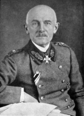 Ernst von Hoeppner - Photographic portrait of General von Hoeppner