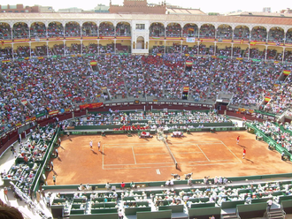 2008 Davis Cup - Semifinal match between the future champion, Spain, and the USA in Las Ventas bullring.