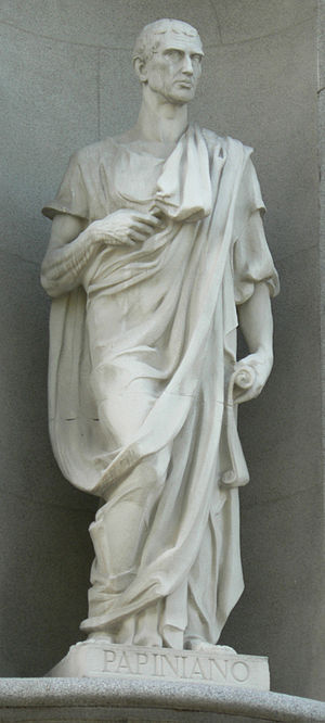 Aemilius Papinianus - Statue of Papinian at the Supreme Court of Spain in Madrid