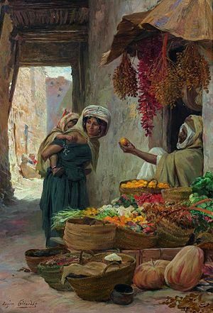 Eugène Girardet - The Fruit Vendor (date unknown)