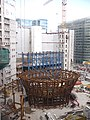 Europa Gebäude, Baufortschritt August 2012, vom Justus-Lipsius-Gebäude aus gesehen.jpg