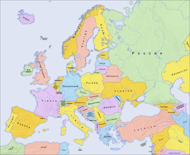 La alacena de las Ciencias Sociales Mapa poltico de Europa