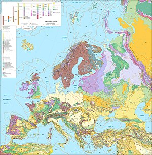 Map Of Europe With Provinces.Geology Of Europe Wikipedia