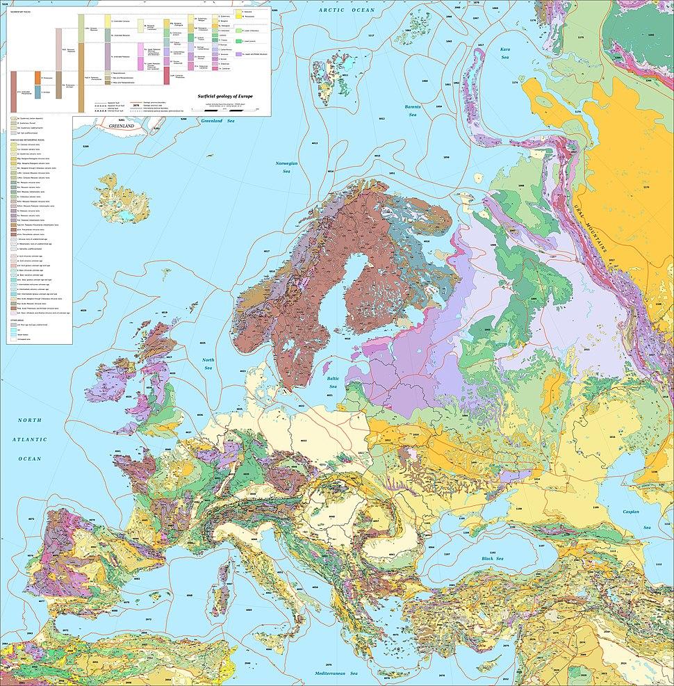 Europe geological map-en