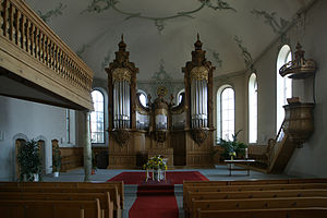 Gais - Interior of the Reformed Church in Gais