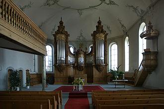 Gais - Interior of the Reformed Church in Gais