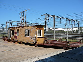 Eveleigh, New South Wales - Old traverser, used to move carriages between railway workshops