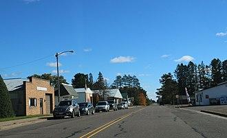 Exeland, Wisconsin - Downtown on WIS48