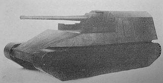 Type 5 Chi-Ri medium tank - Experimental Type 5 gun tank Ho-Ri I mock-up scale model