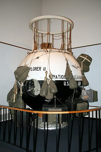 Stratobowl - Explorer II gondola in the National Air and Space Museum.