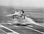 F3H-2 of VF-41 lands on USS Intrepid (CVA-11) in 1958.jpg
