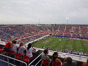 FAU Stadium - North end zone on opening day, October 15, 2011