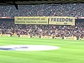 FCBarcelona stadium claiming for the freedom of political prisioners.jpg