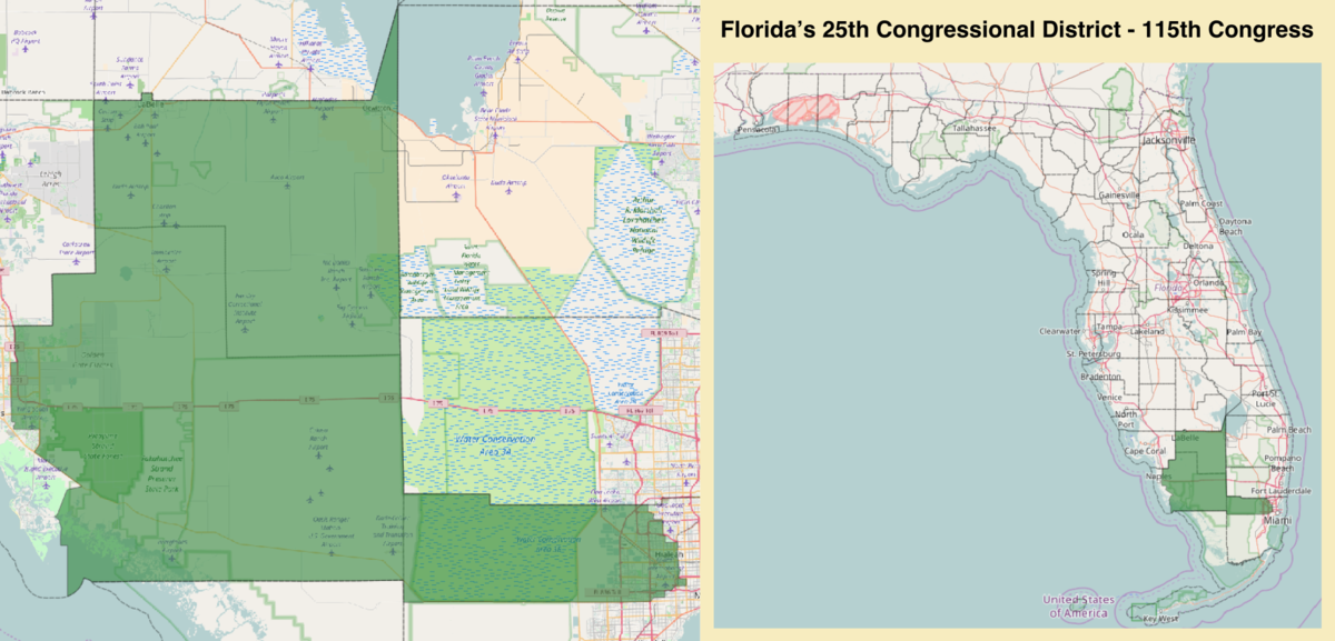 Floridas Map.Florida S 25th Congressional District Wikipedia