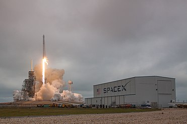 Falcon 9 and Dragon lift off from Launch Pad 39A for CRS-10 (32178458813).jpg