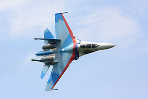 Lipetsk (air base) - Falcons of Russia solo aerobatics during Tambov 2008 airshow