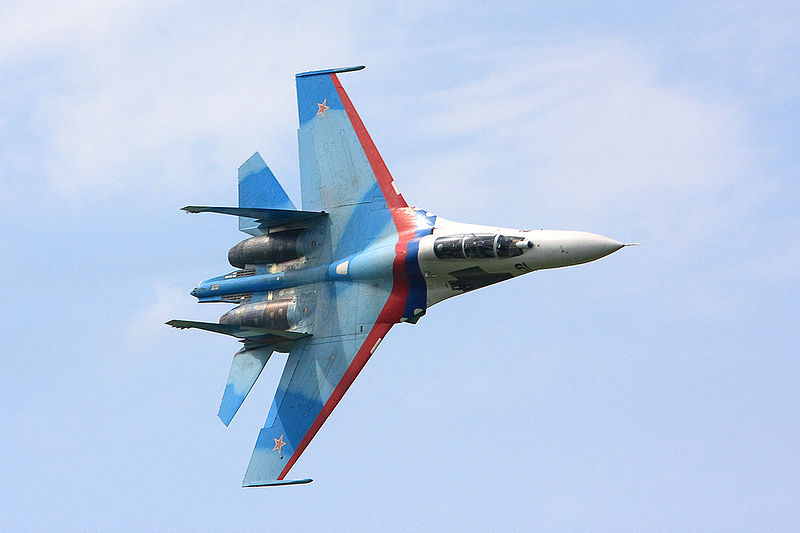 Файл:Falcons of Russia aerobatic team Su-27 2.jpg