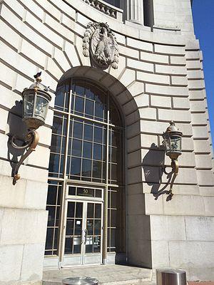 50 United Nations Plaza Federal Office Building (San Francisco) - A corner door