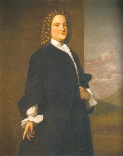 First Portrait of Benjamin Franklin by Robert Feke in 1748 on BingoforPatriots.com