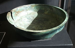 Hanging bowl - Bowl found in Bedfordshire.