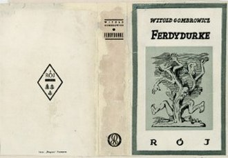 Witold Gombrowicz - Cover of 1938 edition of Ferdydurke