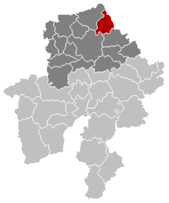 Fernelmont - Image: Fernelmont Namur Belgium Map