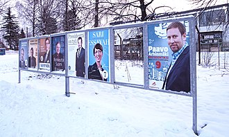 Finnish presidential election, 2012 - Election posters in Jyväskylä