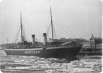 Murtaja (1890 icebreaker) - Image: Finnish icebreaker Murtaja