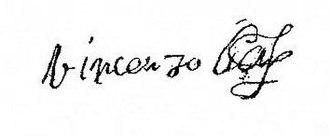 Vincenzo Gonzaga, Duke of Mantua - Image: Firma Vincenzo I Gonzaga