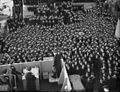 First Lord Visits Home Fleet. 15 January 1943, Scapa Flow, Mr a V Alexander, First Lord of the Admiralty in the Course of His Three Day Visit To the Home Fleet Spoke To Ship's Crews About the War at Sea. A13919.jpg