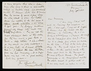 Marcus Beck - First and last page of a letter from Marcus Beck concerning time with Lister 1868