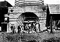 Fitz Roy Iron Works - Base of Blast Furnace in 1896 (The Sydney Mail and New South Wales Advertiser Sat 13 Jun 1896 Page 1229 ).jpg