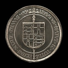 Coat of Arms and Inscription [reverse]