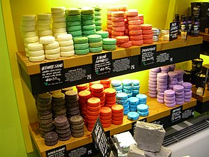 Lush (company) - Lush shampoo bars on display
