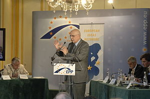 Stavros Dimas - EPP convention on climate change in Madrid between 6–7 February 2008.