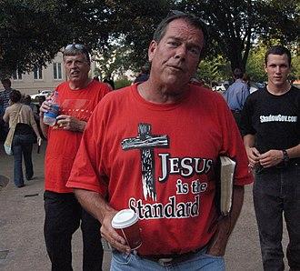 "Flip Benham - Phillip ""Flip"" Benham at an Operation Save America event in Jackson, Mississippi on July 21, 2006."