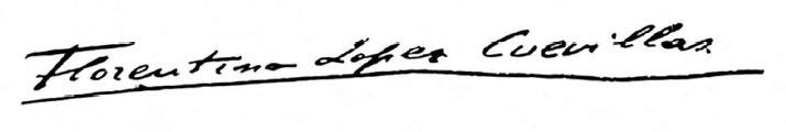 Florentino López Cuevillas firma